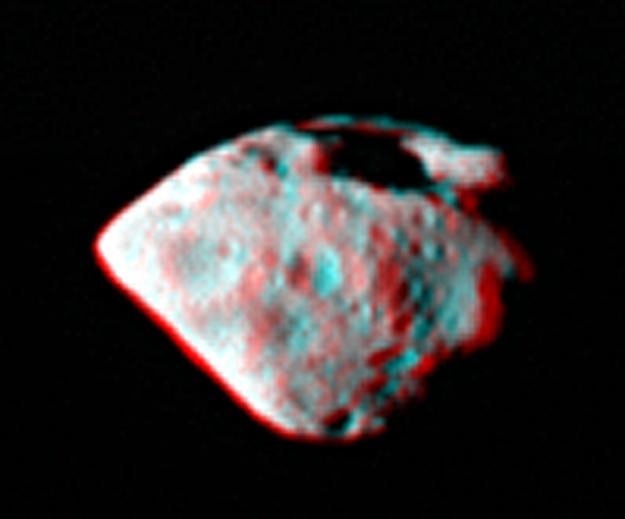 Asteroiden Steins i 3D fotograferet af Rosetta sonden