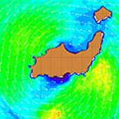 Wind speeds over Great Inagua Island