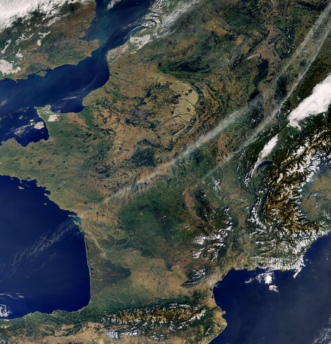 A virtually cloudless Western Europe