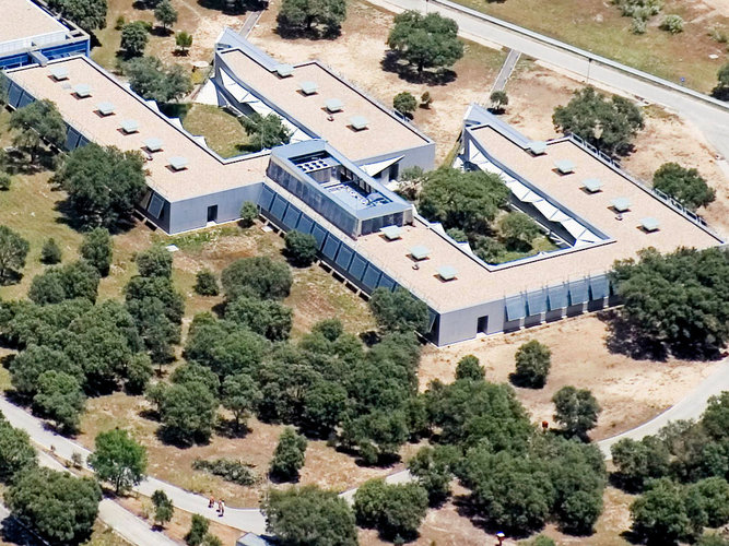 Aerial view of Building C at ESAC, 2008