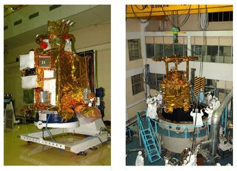 Chandrayaan-1 and its loading to the thermo-vacuum chamber