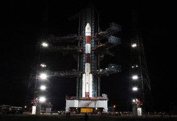 Chandrayaan-1 launcher on launch pad