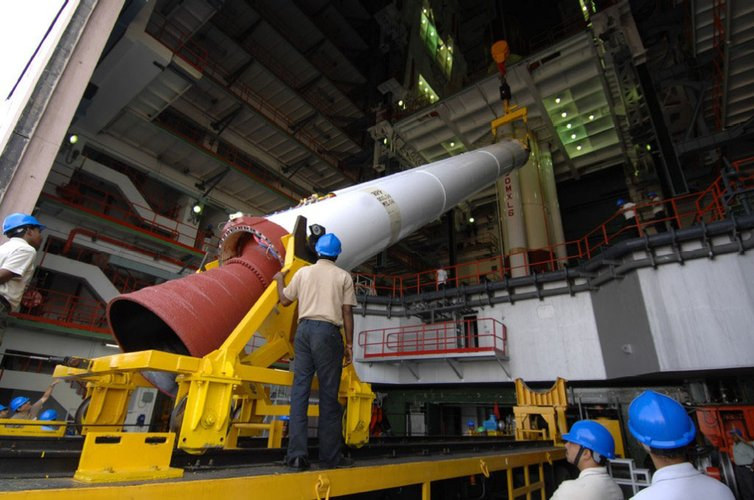 Chandrayaan-1's launcher strap-on booster
