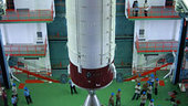 Hoisting of PSLV-C11 Second Stage