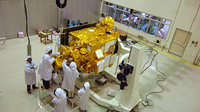 Chandrayaan-1 spacecraft undergoing pre-launch tests