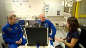 De Winne and Kuipers train for the Neurospat experiment