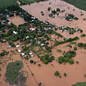 Flooded areas in Honduras