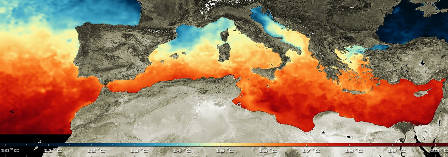 Mediterranean sea surface temperature