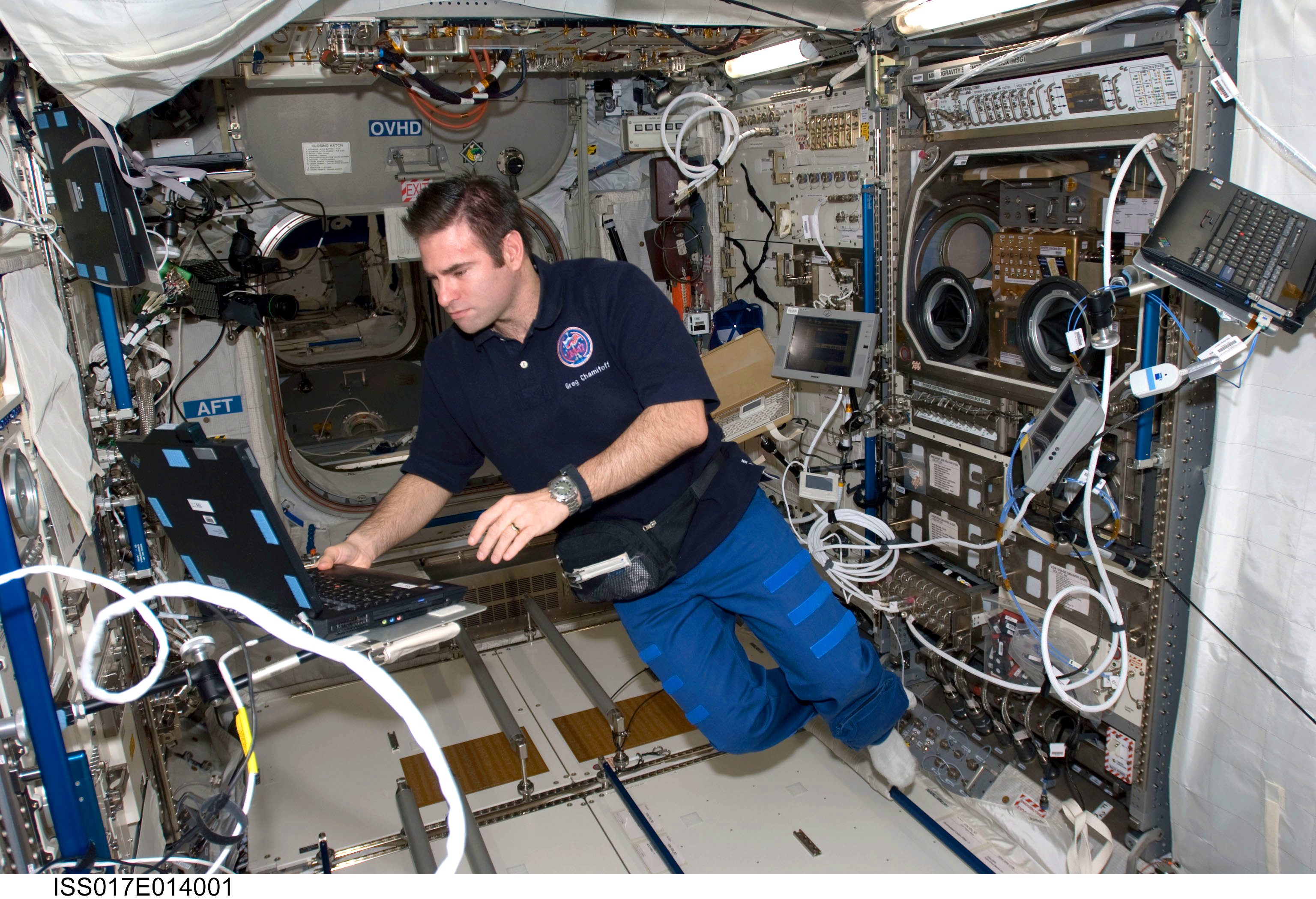 Inside International Space Station Nasa Nasa astronaut chamitoff worksNasa Space Station Inside