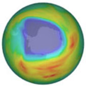 Ozone hole during 7 October 2008