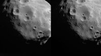 Phobos in super-resolution – before and after image correction