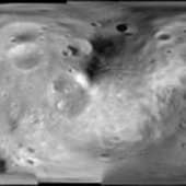 Photo mosaic of Phobos in super resolution