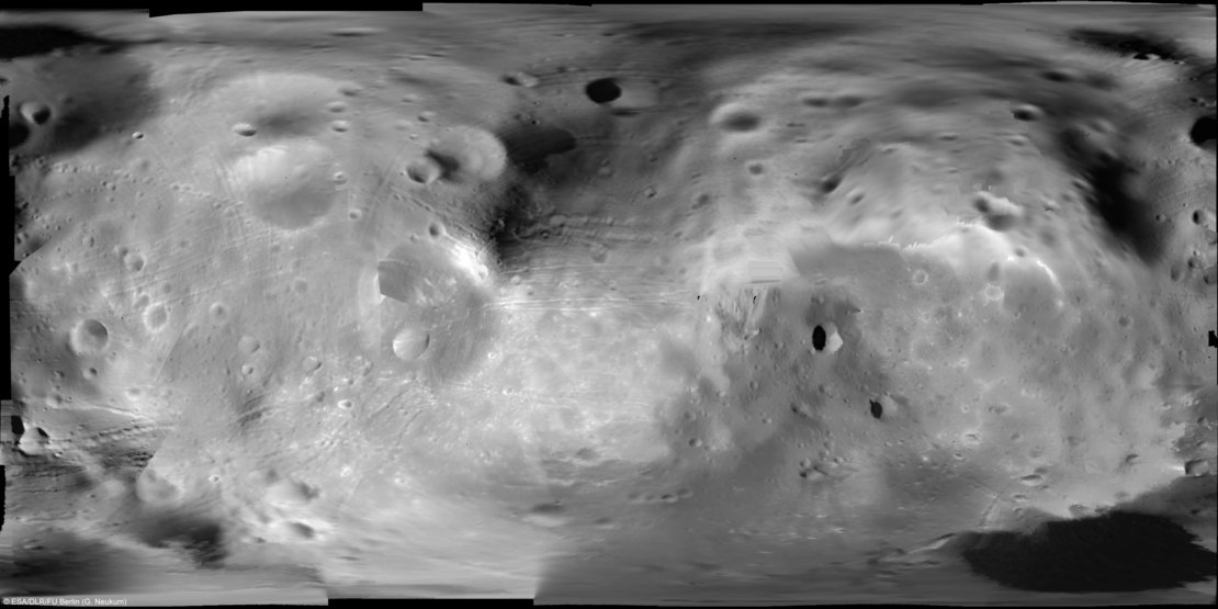 Photo mosaic of Phobos in super resolution / 10 / 2008