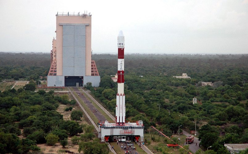 PSLV-C11 launcher on its way to launch pad