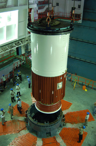 PSLV-C11 launcher's first-stage nozzle