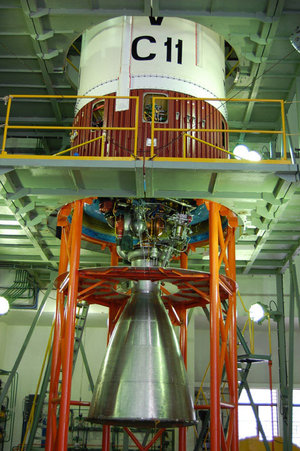 PSLV-C11 second stage with its VIKAS engine