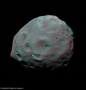 Stereo view of Phobos