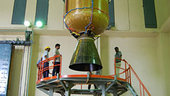 Hoisting of third and fourth stages of PSLV-C11