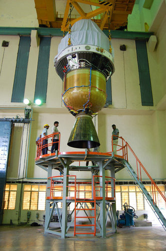 Third and fourth stages of the PSLV-C11 launcher