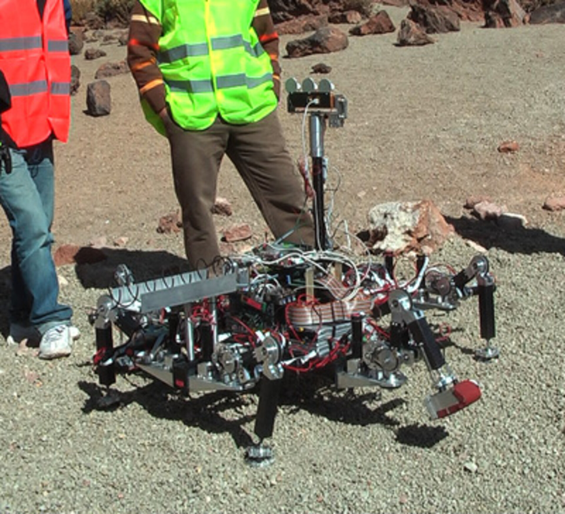 This walking robot was one of the most advanced - and also fragile - robots in the competition.