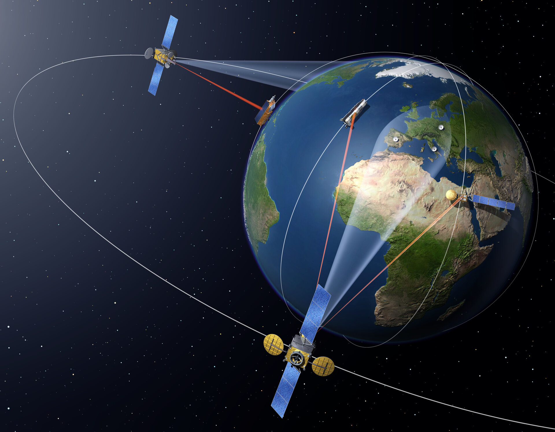 Artist impression of European Data Relay Satellite (EDRS) system