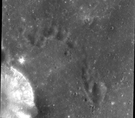 Chandrayaan-1 image of the Moon's surface