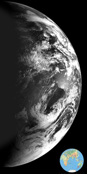 Earth, seen from Chandrayaan-1