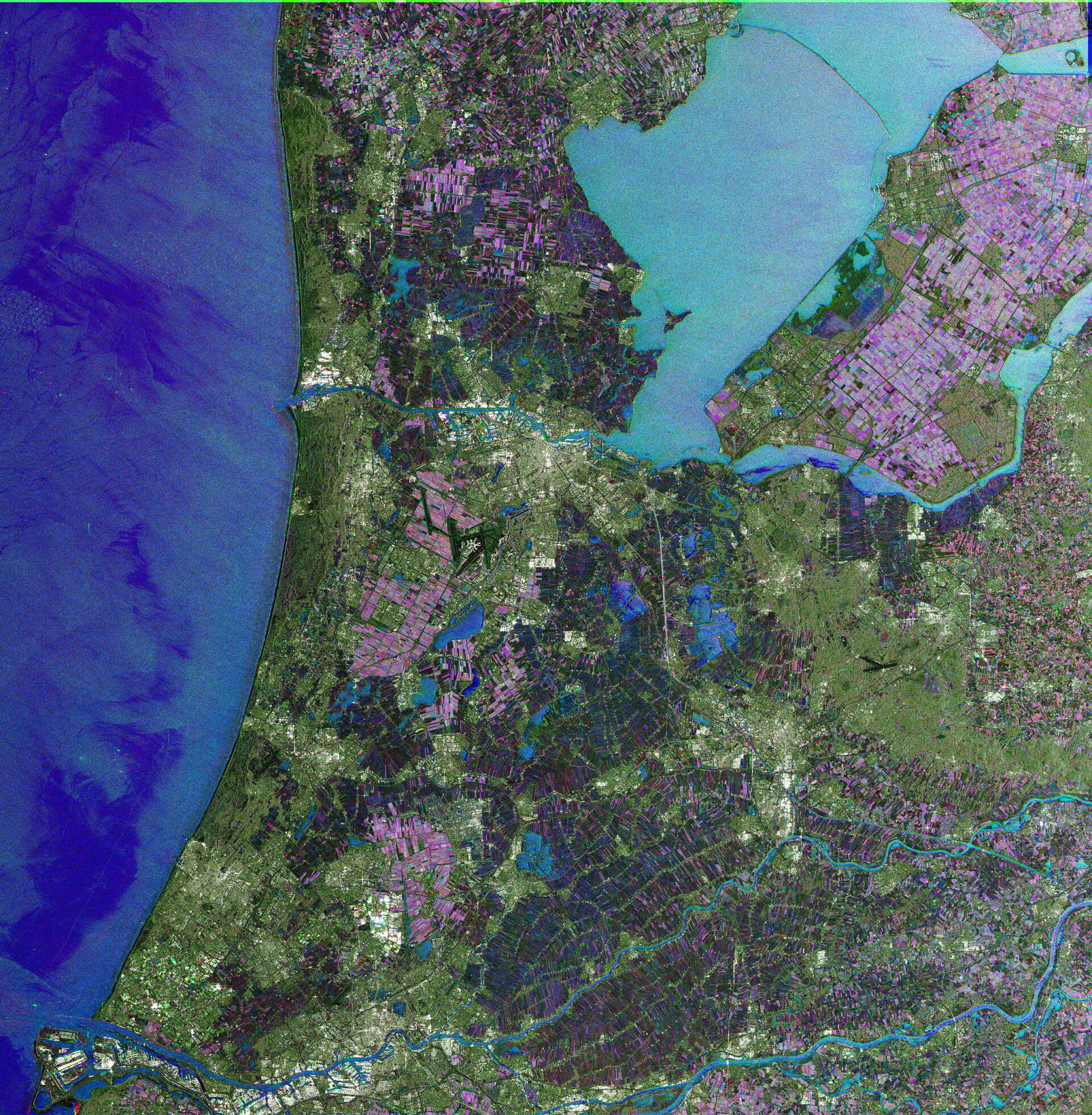 Envisat radar image of the Netherlands