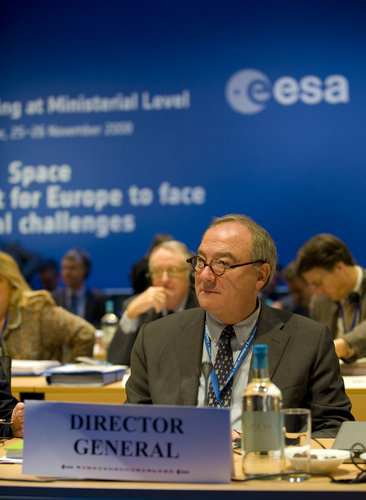 ESA Director General Jean-Jacques Dordain during the ESA Council at Ministerial Level