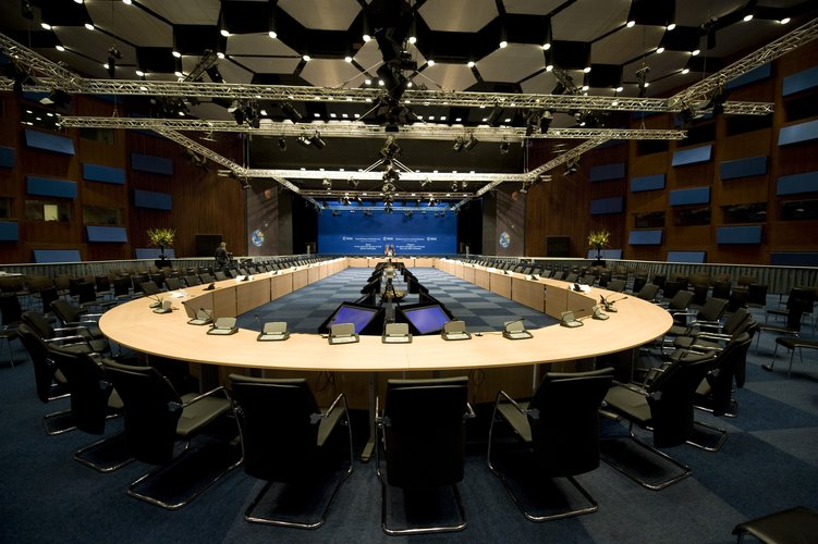 Main conference room in the World Forum Convention Centre