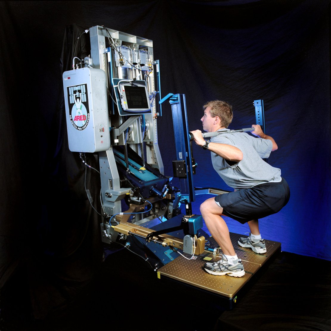 NASA's advanced Resistive Exercise Device (aRED) for the ISS