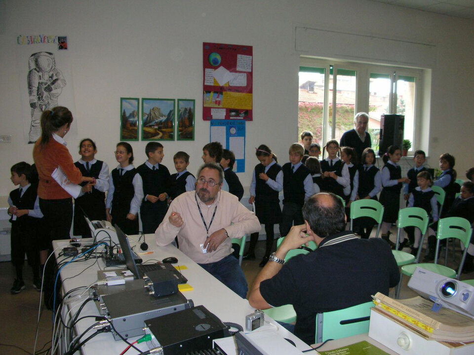 Italian school in ARISS contact with the ISS