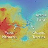 Areas showing LTD on Mars