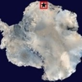 Blue ice region in Antarctica
