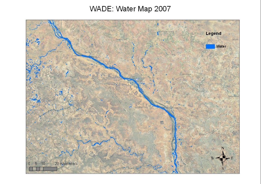 Water body map around the Niger River / 12 / 2008 / Images ...