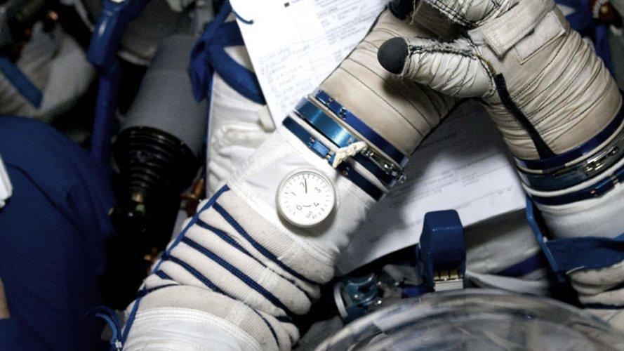 Detail of the Russian Sokol spacesuit
