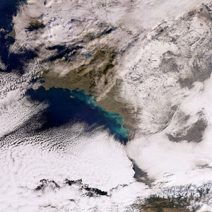 France covered in snow