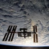 ISS viewed from the Shuttle on 28 November 2008