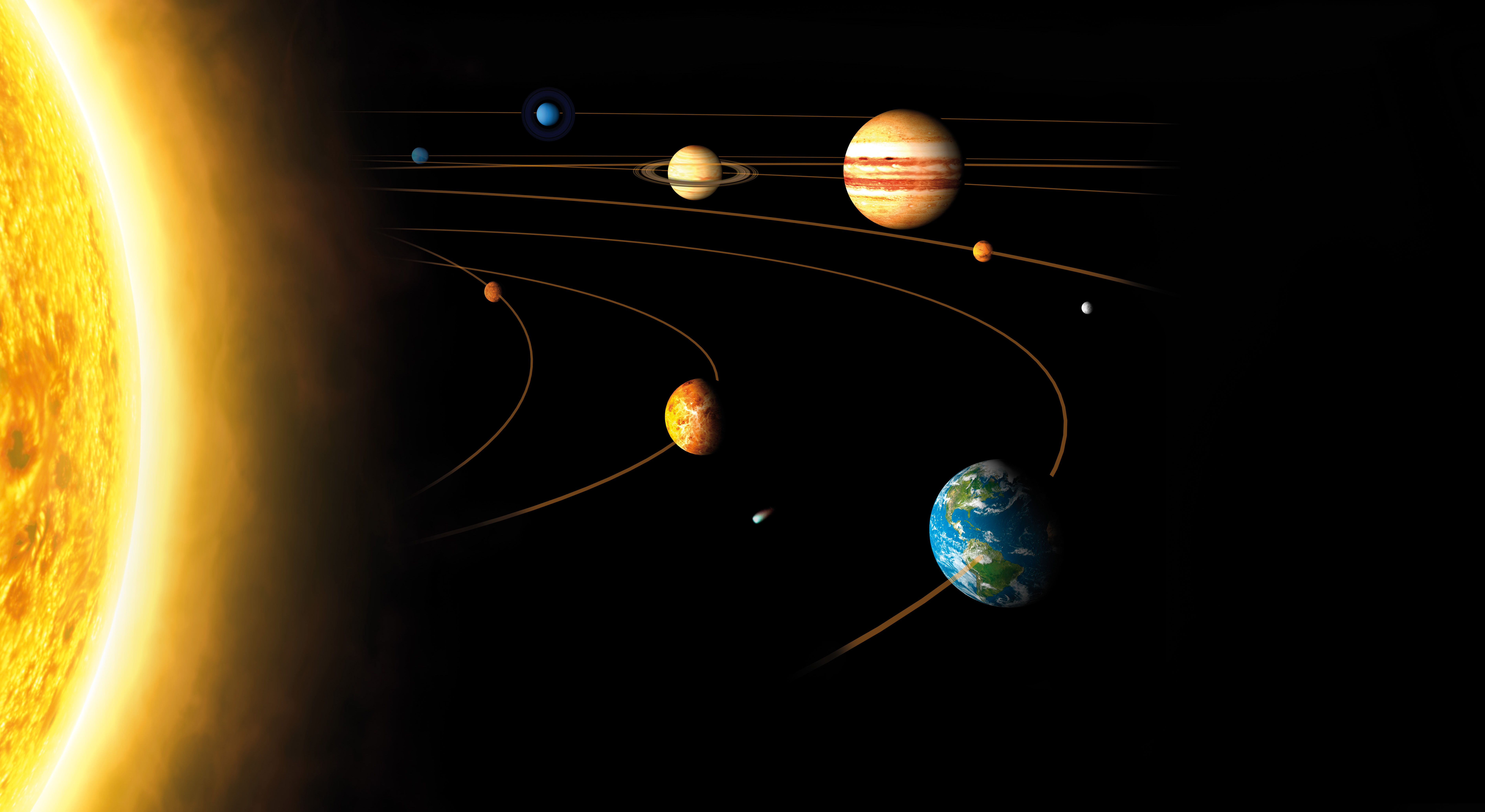 planets and solar system - HD2048×1016