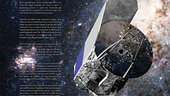 Artist's poster of the Herschel spacecraft