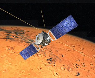 Artist view of Mars Express