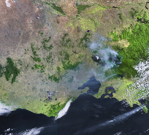 Australia's deadliest wildfires captured by Envisat