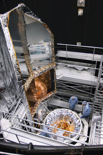 Custom-built radiator for Herschel testing