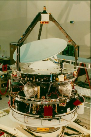 Giotto in 1985, with Whipple shield at bottom