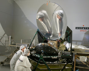 Planck spacecraft during testing