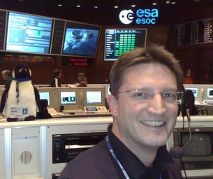 During launch, all eyes in ESOC's Main Control Room will be on the Ground Operations Manager, who will be watching for the first indication that a signal from the satellite has been detected