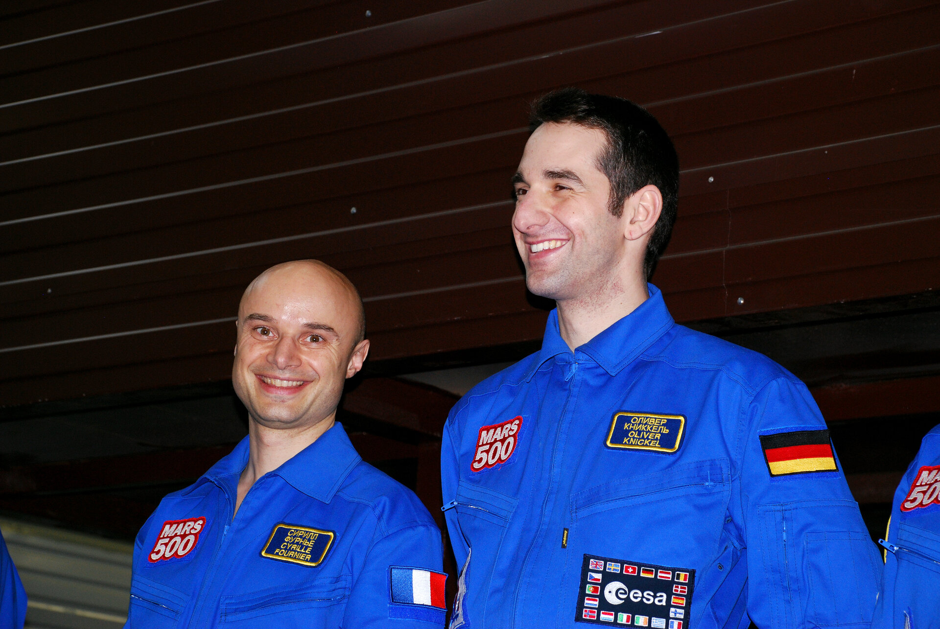 ESA-selected Mars500 participants Cyrille Fournier and Oliver Knickel