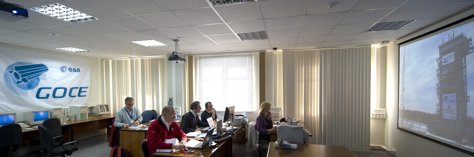 ESA and industrial team members during GOCE countdown rehearsal, Plesetsk, 13 March 2009