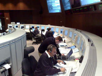 GOCE Flight Control Team in Main Control Room round-the-clock