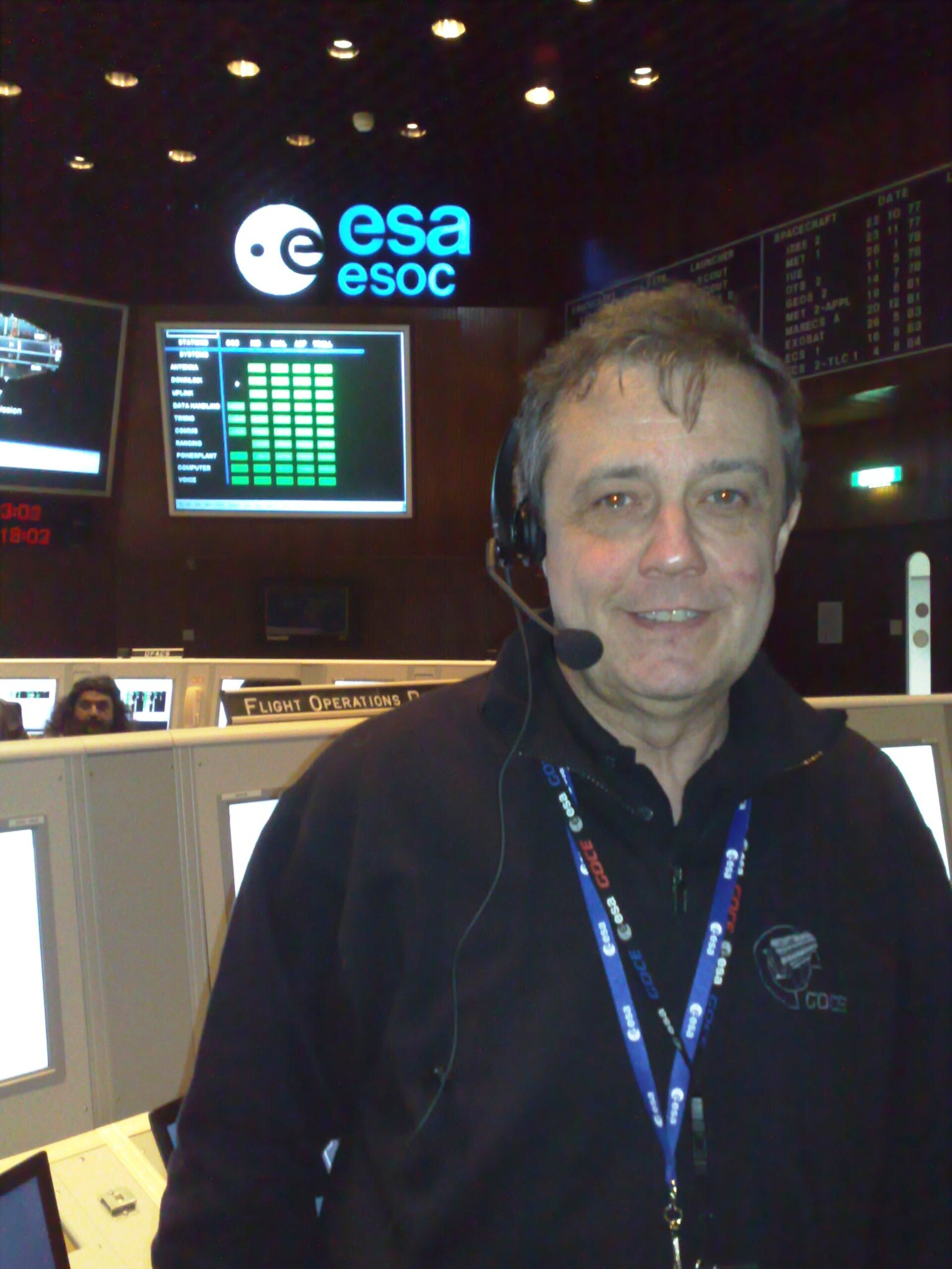 GOCE Flight Director P-P. Emanuelli on console